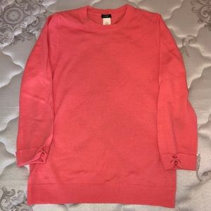 J. Crew sweater with decorated sleeve cuffs